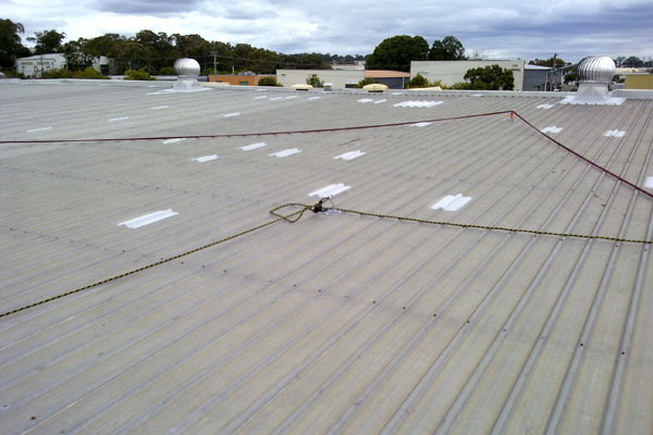 Roof anchor points needed to be checked before use.