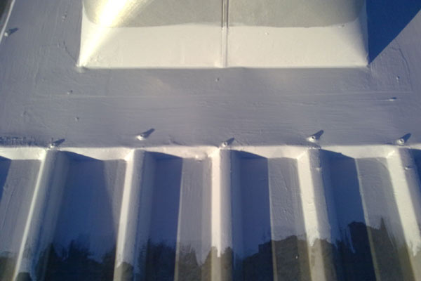 Further use of tape with the membrane to create a seamless waterproof membrane.